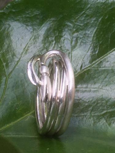 Zilveren sneeuwklokje ring
