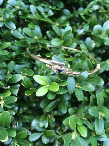 Gouden armband met saffier en diamant