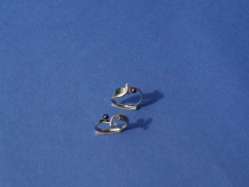 Wit gouden ringen met parel