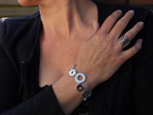 Zilveren armband en ring